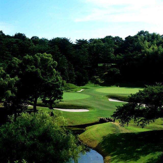 画像: 5番ホール/155㍎/パー3 池越えの美しいパー3で日本庭園の趣がある。春には樹齢50年以上の桜が満開になる名物ホール