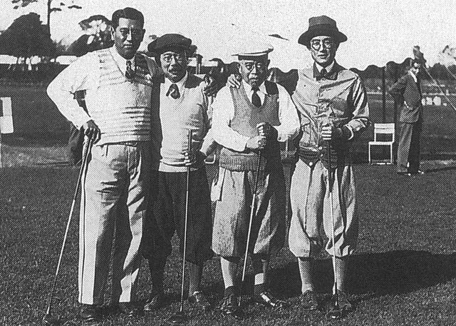 画像: 赤星六郎(左端)。米国プリンストン大学でゴルフを始めて24歳で帰国し、日本に本物のゴルフを根づかせようと奔走した