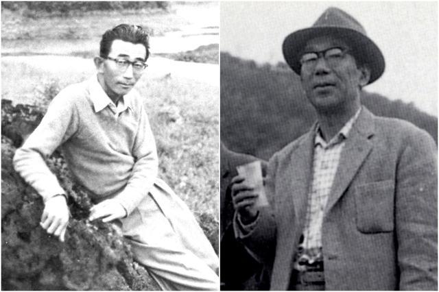 画像: 四郎の弟子筋のひとりといえる井上誠一(左)、アリソンが設計した廣野GCの復旧に励んだ上田治