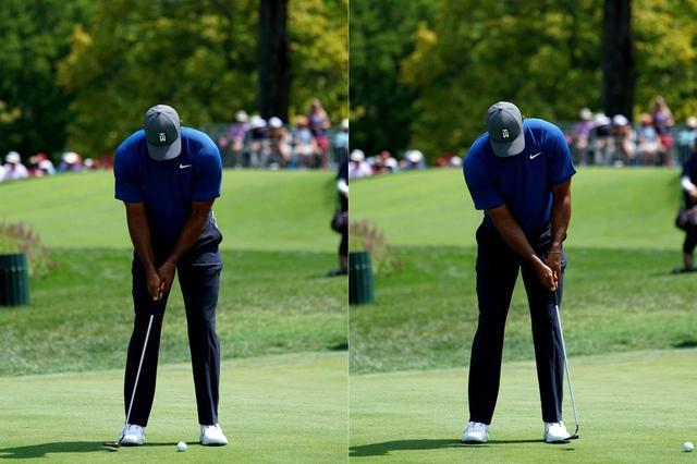 画像: タイガー・ウッズもサイトラインをボールに描く
