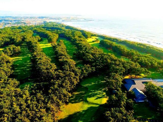 画像: 上空から見た大洗ゴルフ倶楽部