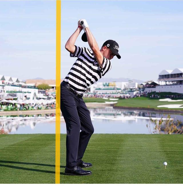 画像: トップでは、右お尻がラインを越える