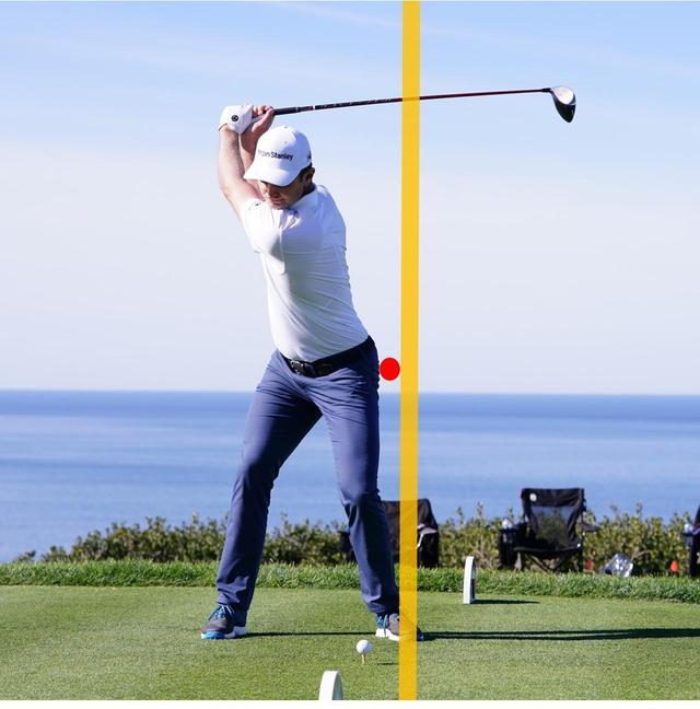 画像: トップで左ひざ、左腰がラインから大きく離れない