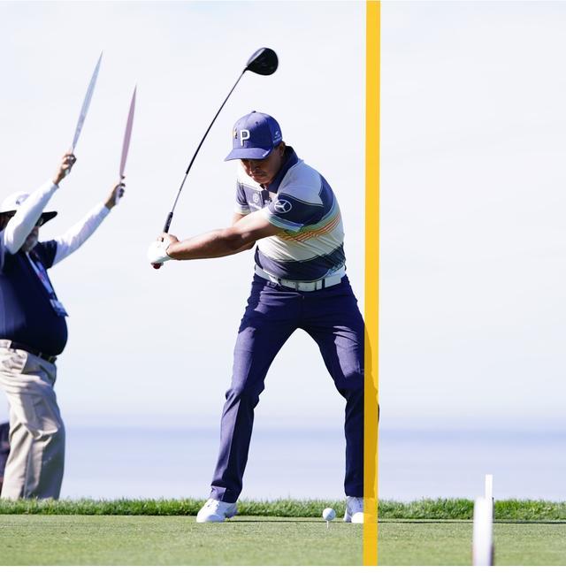 画像: 最小限の左ひざの動きで理想的なポジションへ移行
