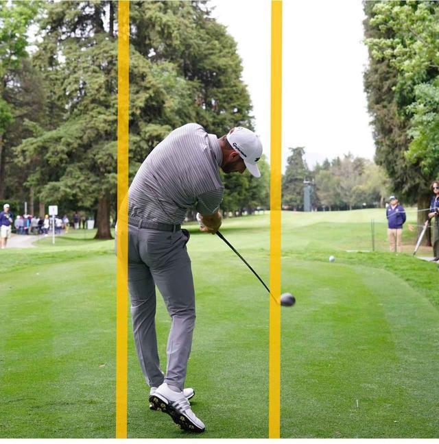 画像: 左のお尻が線からはみ出て、前傾が深まる