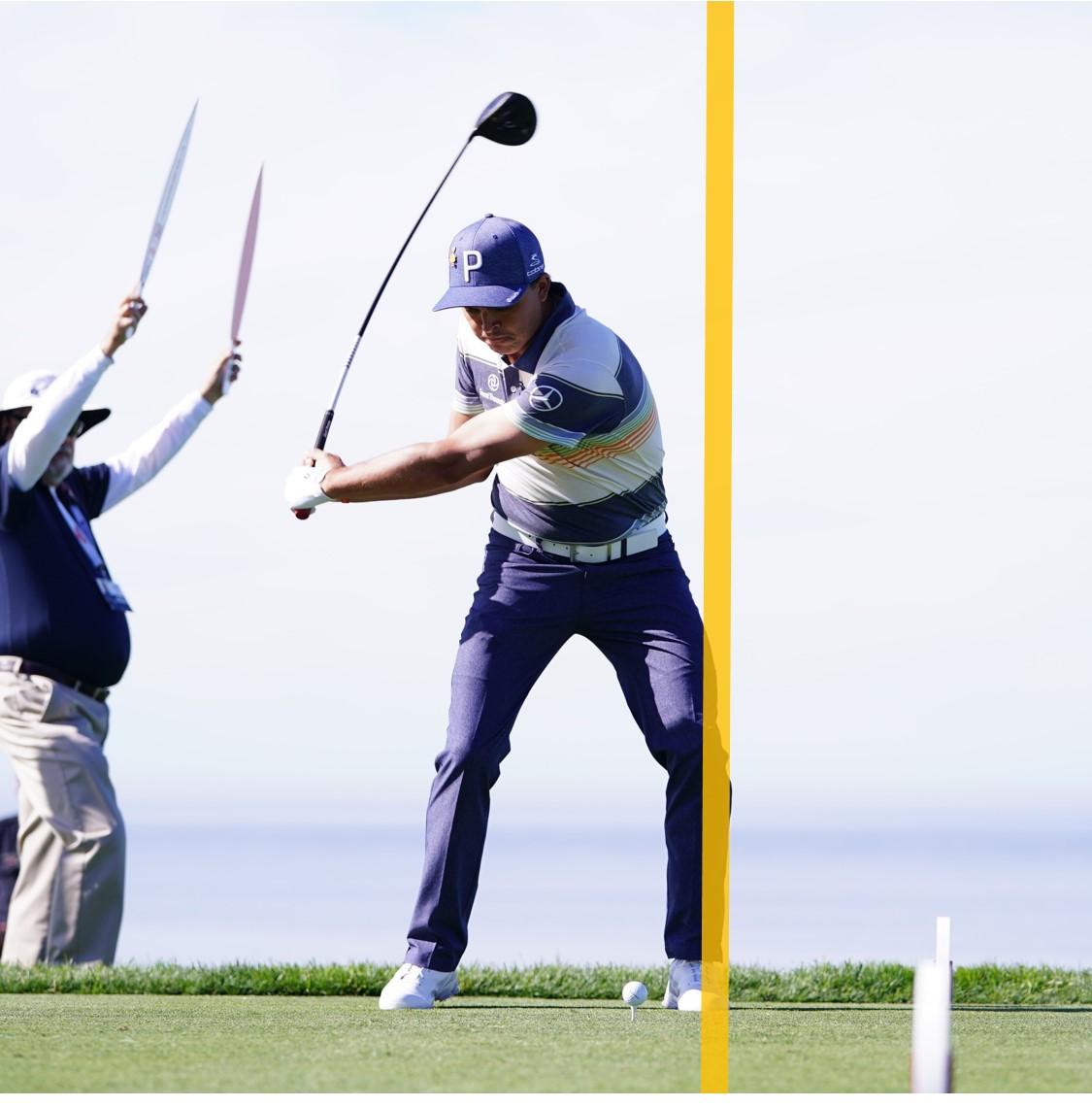 画像: 【連続写真タテ並べ③】線から離れず振れますか? トッププロはこの線から外れない! - ゴルフへ行こうWEB by ゴルフダイジェスト