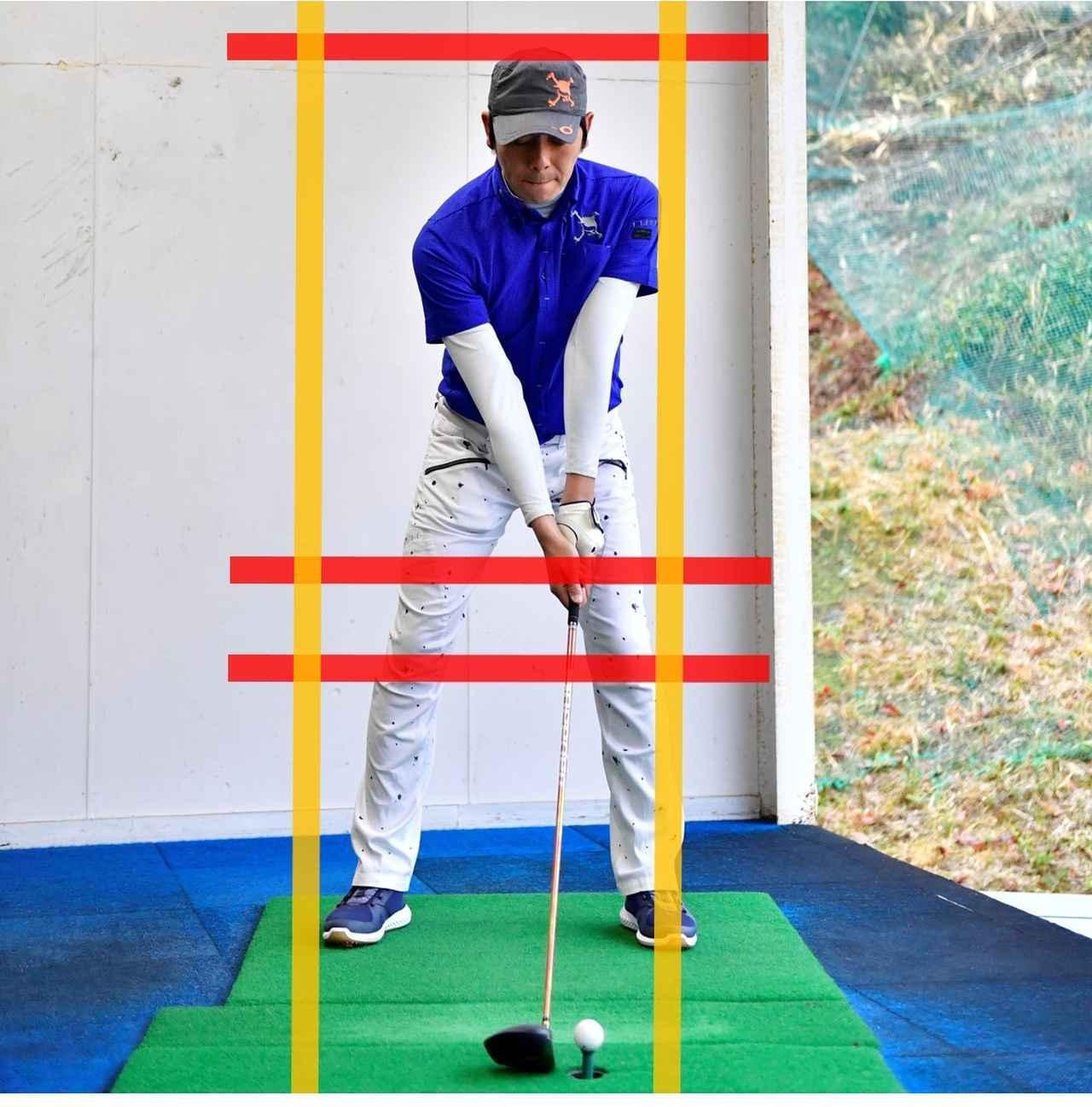 画像1: 自分のスウィングがよく分かる「線の入れ方」