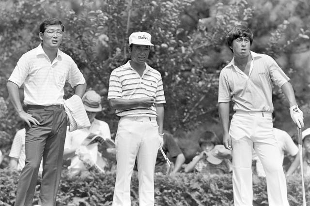 画像: 最終日最終組の3人。左から中嶋、金井清一、湯原