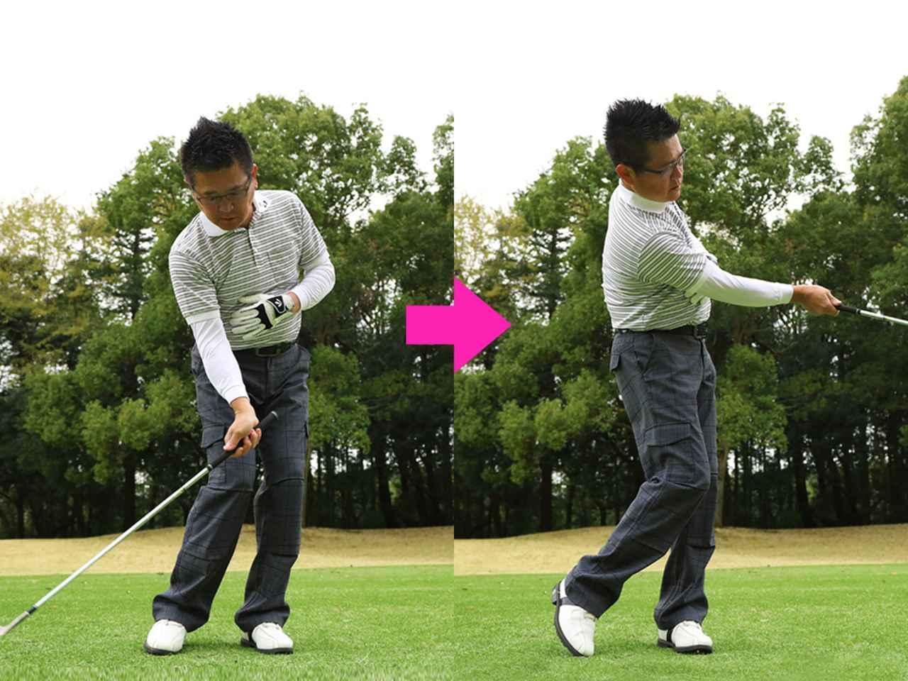 画像1: 右脚の押し込みポイント
