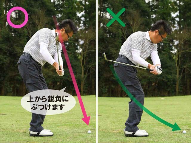 画像2: ロフトを立てて打つ3つのポイント