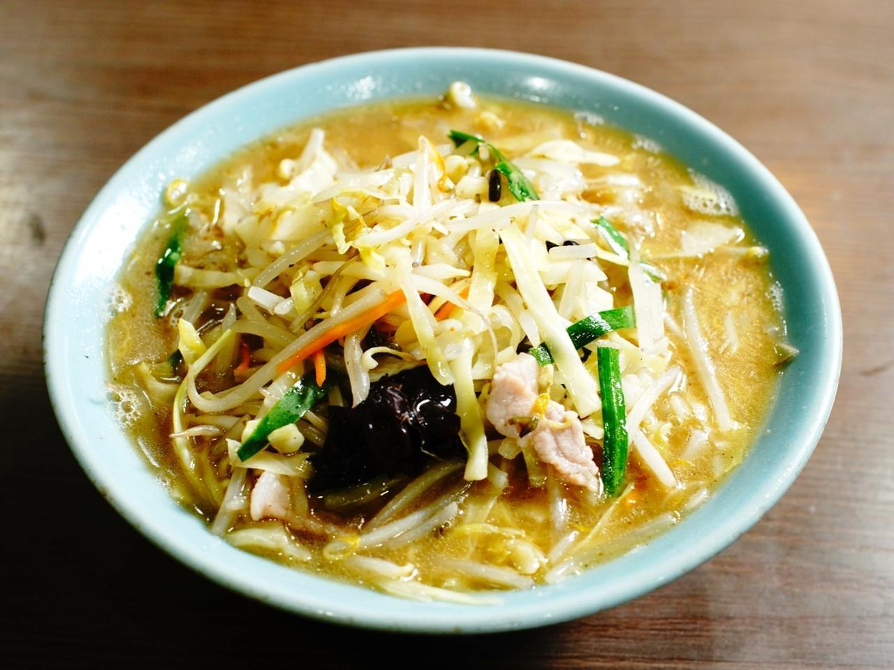 画像: もうひとつのウリは「タンメン(720円)」 縮れ麺によく絡む深い甘みと濃厚なコクの秘密は、鶏ガラベースのスープに染み出した野菜のダシ