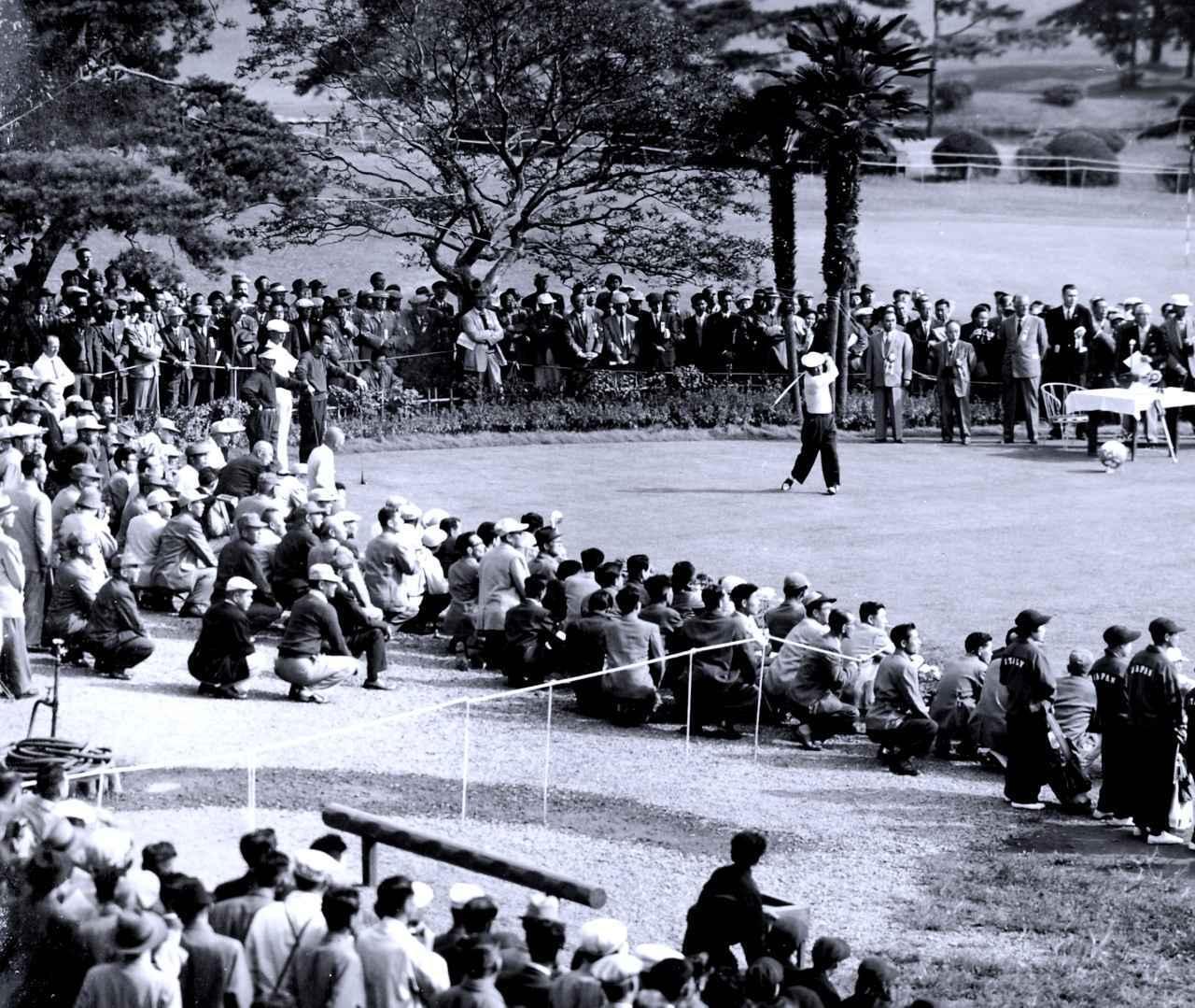 画像: 1957年、日本で開催されたカナダカップ(現ワールドカップ)。(霞ヶ関CC東C)