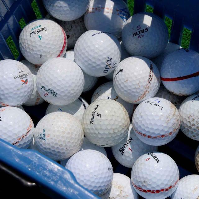 画像: 練習球にはコースボールを使用