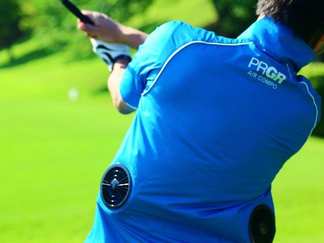 画像: 酷暑のゴルファーの救世主となるか? ゴルフ用の扇風機付きウェア「エアー コンポ」