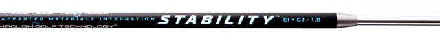 画像: 8層に巻かれたカーボンファイバーシートはテーパーの無いパラレル設計でトルクを低減。ステンレス製のチップシャフトは均一な肉厚で方向性が安定する