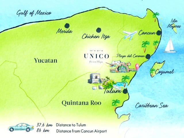 画像: 5つ星ホテル「ウニコ」には、カンクン空港から1時間