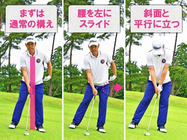 画像1: 左足下がりから打つ3つのポイント