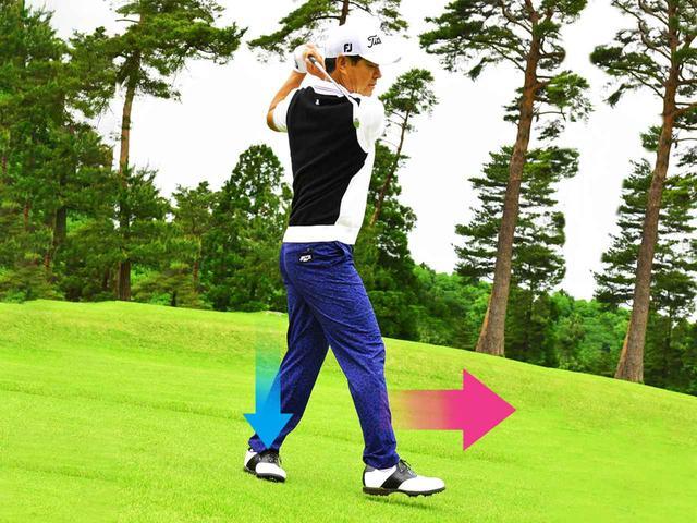 画像2: 左足下がりから打つ3つのポイント