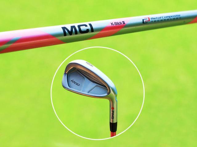 画像: フジクラの「MCI K-StickⅢ」という特別に軟らかい練習用シャフトに、ヘッドは現在使用する同型の8番アイアンのモノで練習をしている