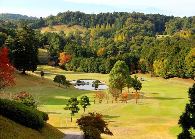画像: ディアーパークゴルフクラブ 大和青垣国定公園の一部を占める丘陵コース 8番(492Y・P5)
