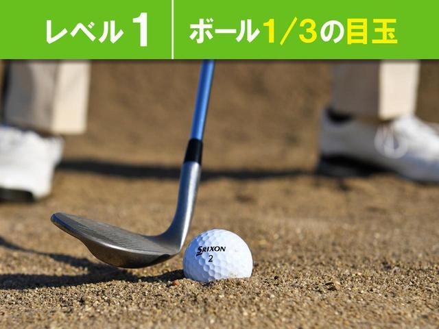 画像: 砂の潜り具合 レベル1~3