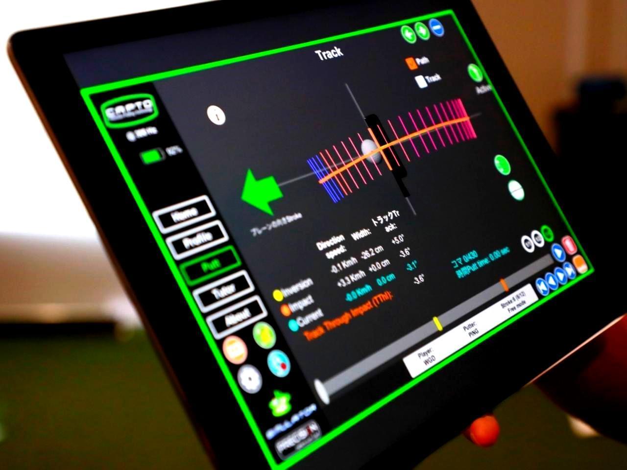 画像: パッティング解析システム「CAPTO」