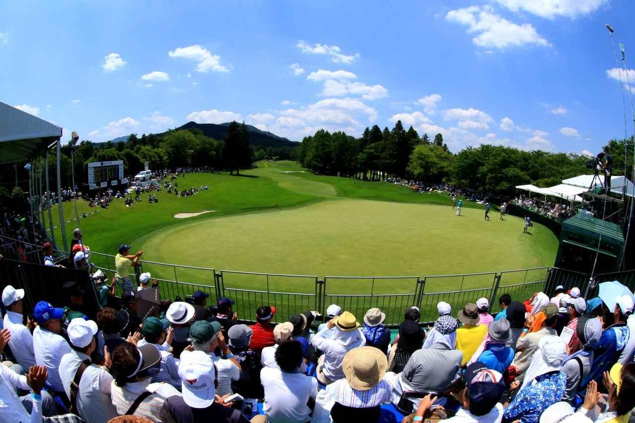画像: 西コース18番のトーナメント風景