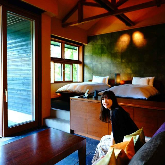 画像: 「山路地の部屋」山に面したプライベート感の高い部屋