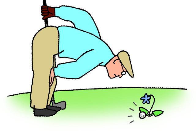 """画像: 【ルール早わかり】""""前進4打""""的なローカルルール誕生。紛失球やOBになったところを推測して2打罰でプレー可能に - ゴルフへ行こうWEB by ゴルフダイジェスト"""