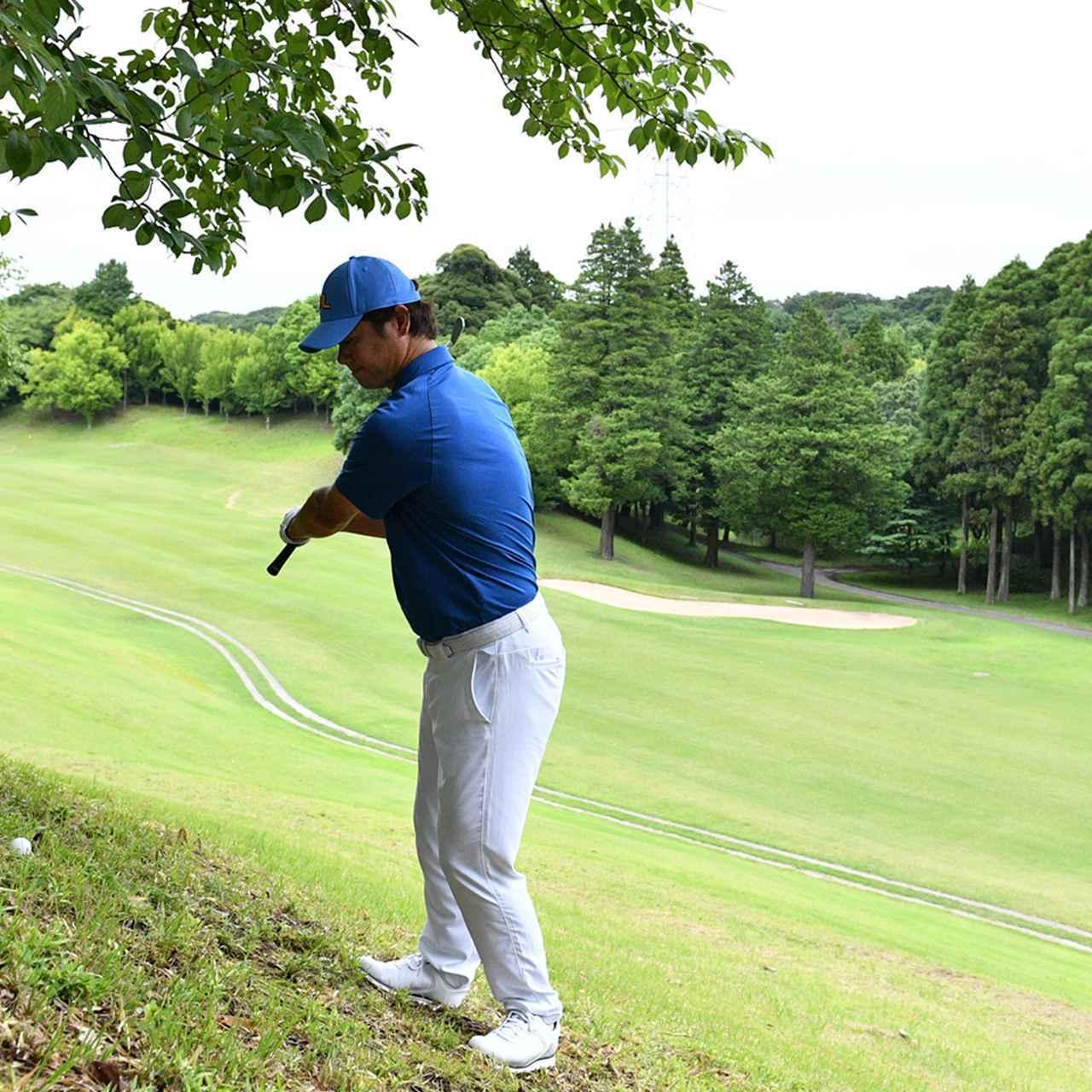 画像6: 【傾斜地アイアン】夏ゴルフ、つま先上がりの斜面ラフに止まった。かなりの急傾斜から上手く打つには…。(後編)