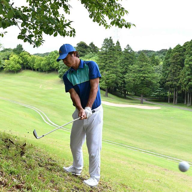 画像7: 【傾斜地アイアン】夏ゴルフ、つま先上がりの斜面ラフに止まった。かなりの急傾斜から上手く打つには…。(後編)