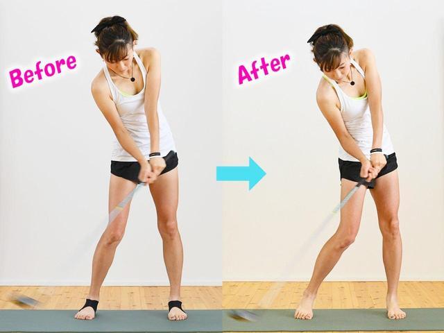 画像: 切り返し時の右足の蹴りが強くなった。つま先に自然と力が入り開かなくなったうえ、上体が下りてきたのを受け止められるイメージなった。左の壁ができているのがわかる。素振りでこれだけ違うのはかなり大きい