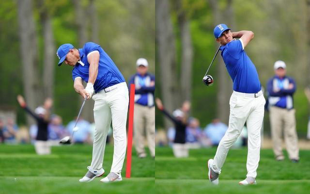 画像: 左脚が伸びて体がスムーズに回転していく