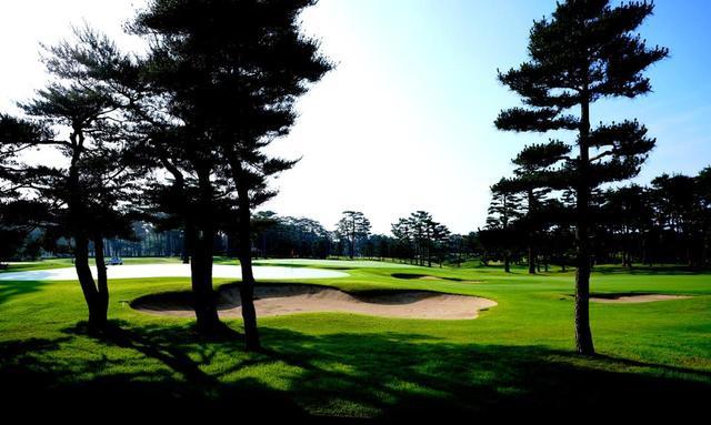 画像: 龍ヶ崎CC クラブハウスから見える風景。井上は景色と光の向きにもこだわった