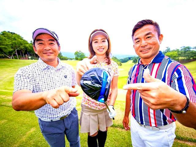 画像: 試打者を務めた村山浩伸さん(左)、勝又優美プロ(中)、福永和宏プロ(右)