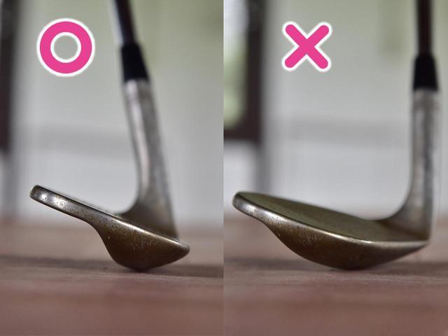 画像: 〇ハンドレート気味にするとロフト角だけが寝る、×フェースを開くとかなり右方向に向く