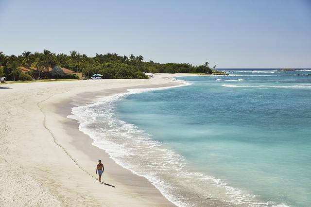 画像: エメラルドグリーンの美しい海が続くプンタ・ミタのビーチ。