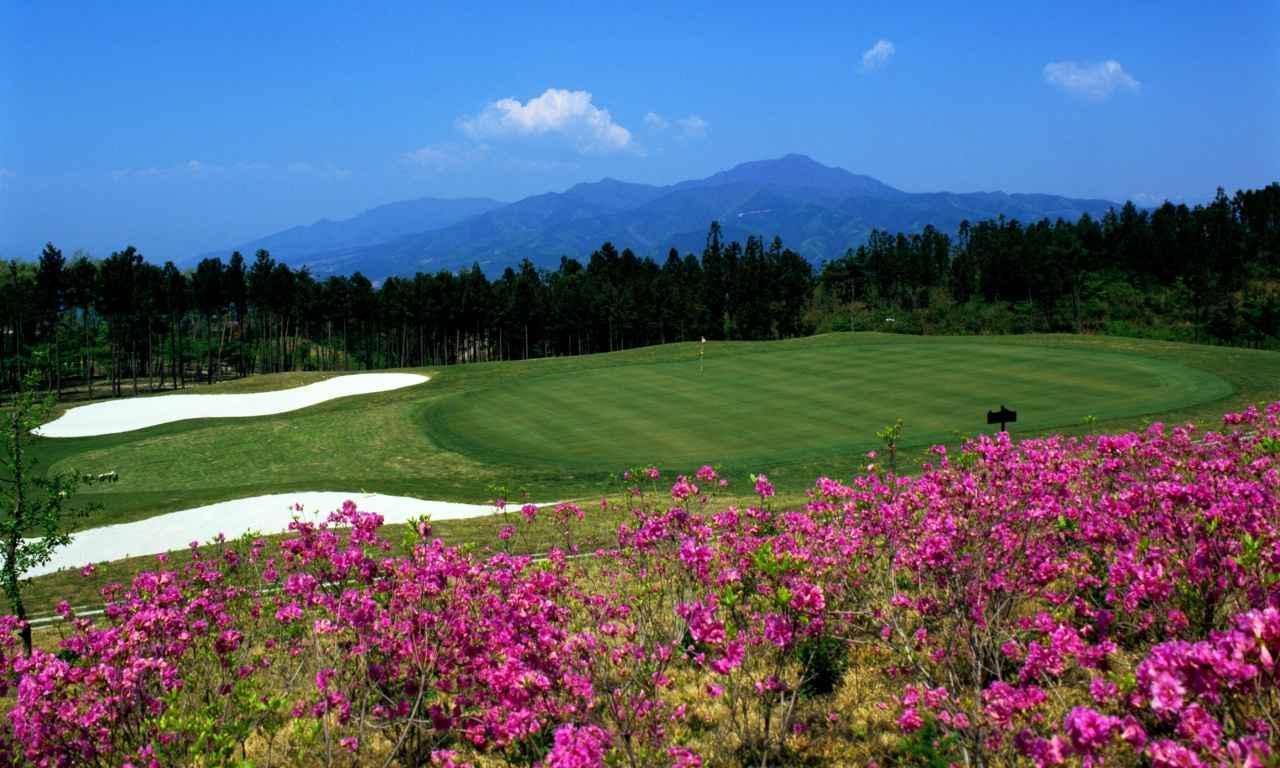 画像: 米子ゴルフ場16番(350Y・P4)