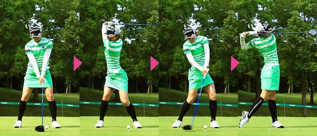 画像2: 左腕でリードすれば正確に打ち出せます by小野祐夢プロ