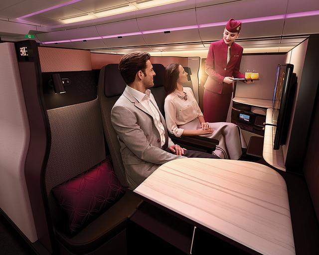 画像1: カタール航空 ビジネスクラス
