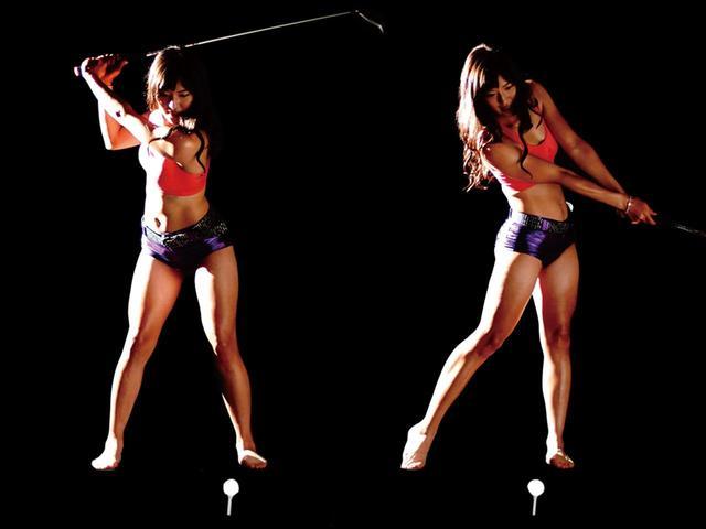 画像: 下半身が安定すれば、飛びの捻転差が作りやすい
