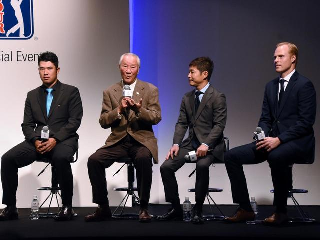 画像: ZOZO選手権開催決定時の記者会見