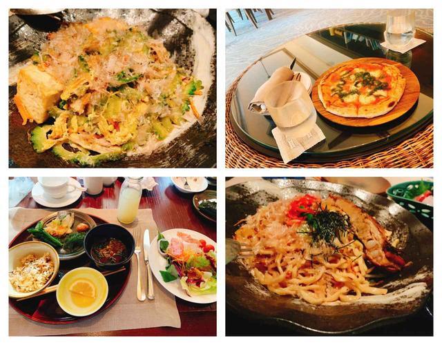 画像: 現地の食材を活かした創作料理の数々