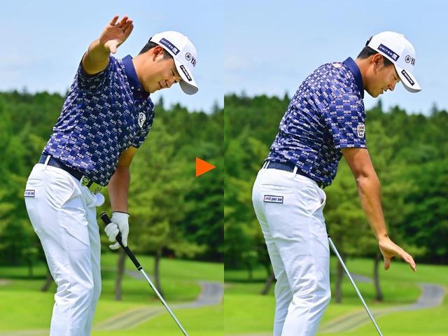 画像: Point.3 右手のひらを下向きに返す