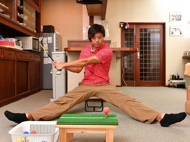 画像1: 【スコアアップ】暑い夏の一日、トップアマは部屋でこんなことをやっている。ゴルファーの家練を公開