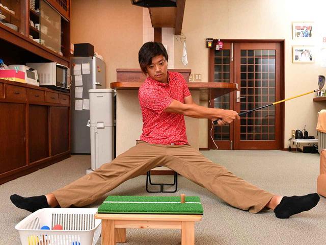 画像3: 【スコアアップ】暑い夏の一日、トップアマは部屋でこんなことをやっている。ゴルファーの家練を公開