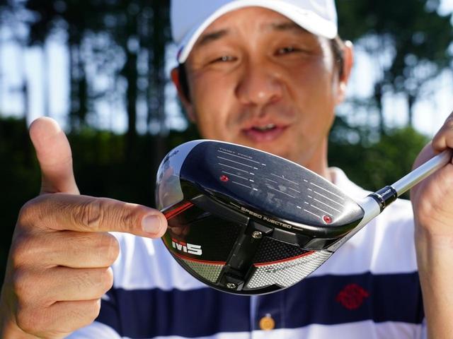 画像: 「M5は、スピンが少なくて叩いても吹けず前へ伸びる。パワーをロスしません」(横田)