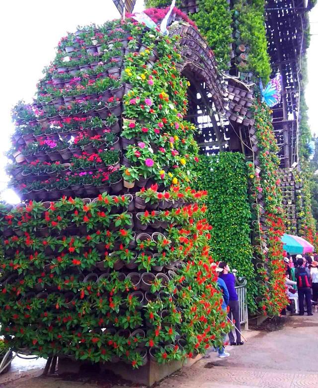 画像: 栽培が盛んで街の随所に花が咲く
