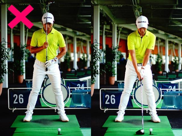 画像: 体の軸が真っすぐすぎて、右肩がかぶりやすい
