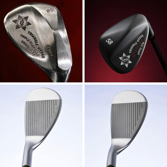 画像: (左上)ノーメッキ、(右上)黒染め、(左下)ストレートネック、(右下)セミグースネック